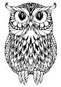 pictures of owls to color free coloring pages of owl complicated