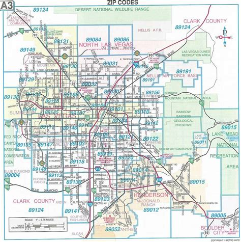 printable zip code map of las vegas las vegas map las vegas nevada pinterest las vegas