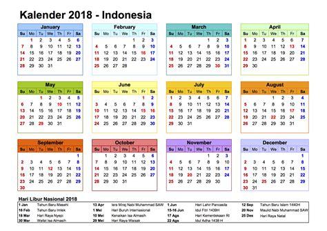 Kalender 2018 In Excel Kalender 2018 Indonesia Ferien Feiertage Excel Pdf