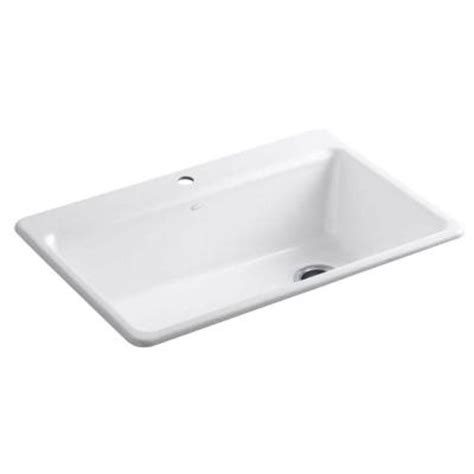 kohlerriverby top mount cast iron 33x22x9 5 8 1