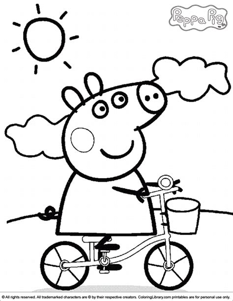 free coloring pictures peppa pig peppa pig coloring picture