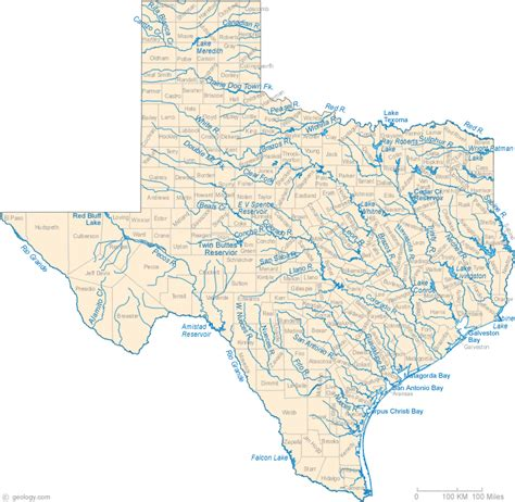 texas rivers map turnkey ranch development l l c texas maps