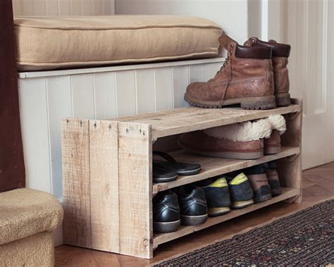 Handmade Shoe Rack - wooden shoe rack handmade pallet furniture