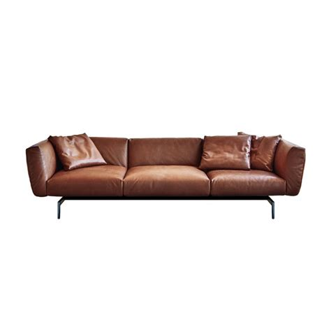 Knoll Leather Sofa Superb Leather Sofa By Joe D Urso For Knoll Leather Sofa