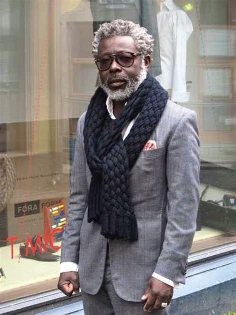 mature style for black men handsome black men with gray hair and style s i l v e r