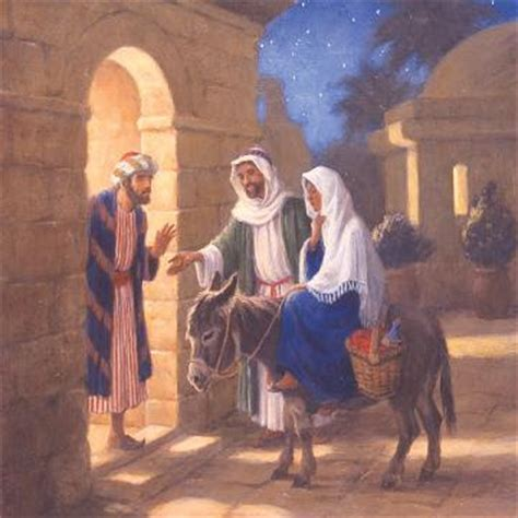 No Room At The Inn For Mary And Joseph And The Donkey | building the blocks no room