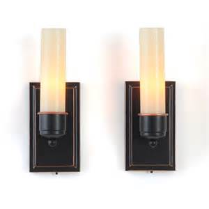 Flameless Candle Wall Sconce Set 2 Sports Candletek Wall Sconces Flameless Candles Set Of 2 Ebay
