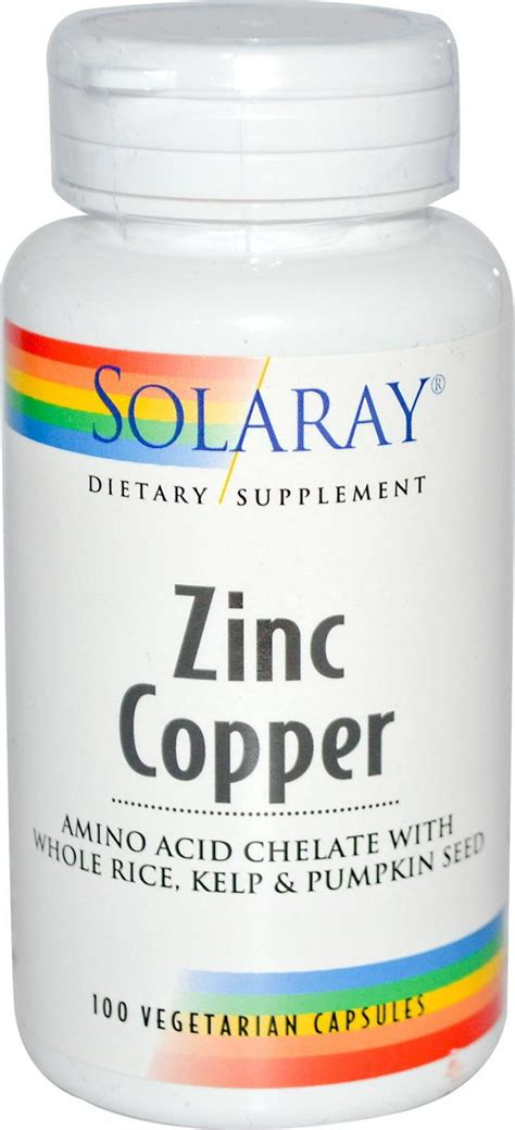 supplement zinc and copper solaray zinc copper zinc vitamins minerals