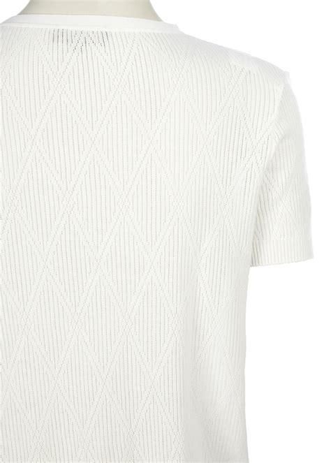 Triangle Sleeve triangle jacquard sleeve t shirt le mont