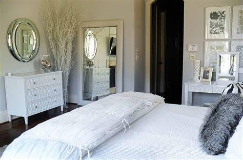 white and silver bedroom bedroom at real estate