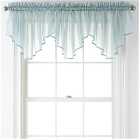 lisette curtains liz claiborne 174 lisette rod pocket sheer ascot valance
