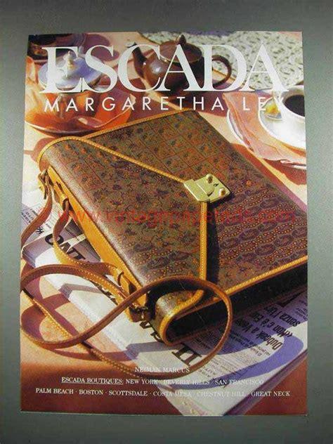 Margaretha Bag From Escada by 1992 Escada Designer Fashion Ad Handbag Margaretha Ley