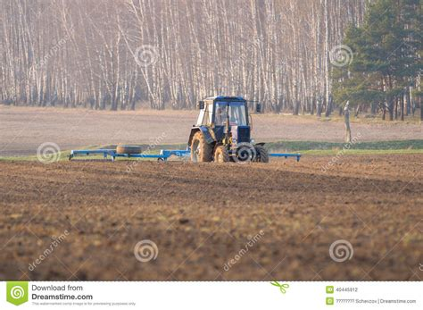 tractor supply sinking spring tractor cultivates box spring stock photo image 40445912