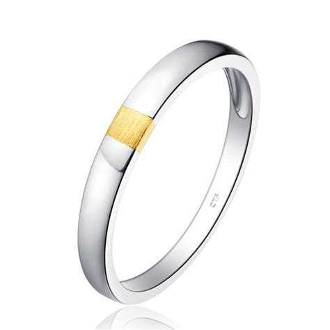 simple design unisex flat white gold color ring band for gift