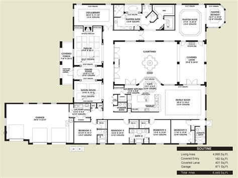 hacienda style homes floor plans www pixshark