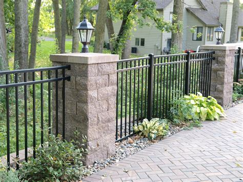 Home Decor Minneapolis backyard patio fence with posts and accent lighting