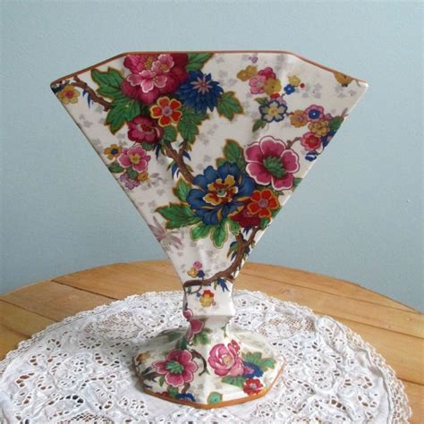 Crown Ducal Ware Vase by Crown Ducal Ware Lantern Chintz Fan Vase From
