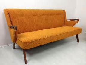 vintage orange sofa loveseat via mcm
