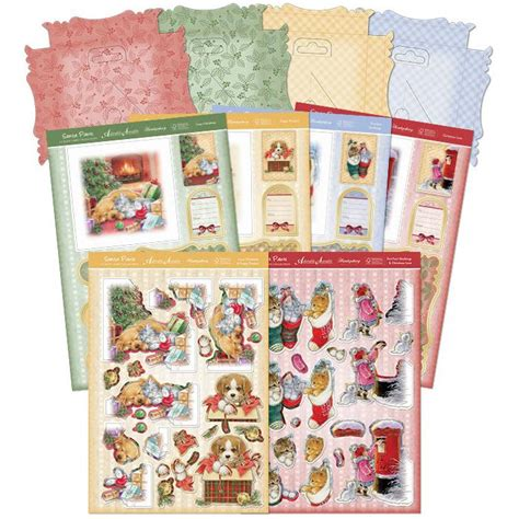 Decoupage Kit - a4 decoupage kit santa paws premium card kit decoupage