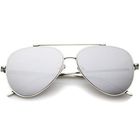 Mirror Metal Frame Sunglasses sunglassla teardrop rimless mirror flat lens metal frame