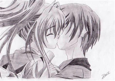 imagenes japonesas de amor para dibujar beso por danny dibujando