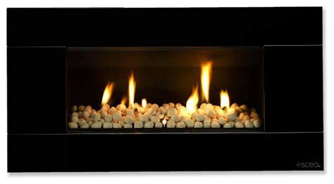 Modern Black Fireplace by Escea Indoor Gas Satin Black Fireplace Ferro Front
