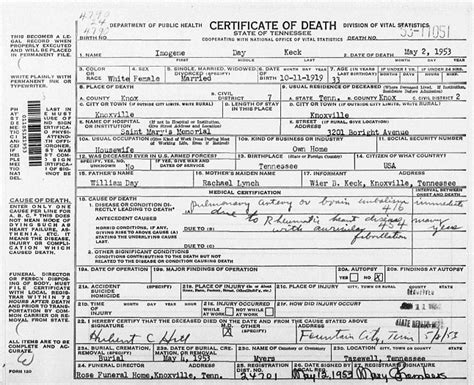 Records Of Deaths The Family History Guide