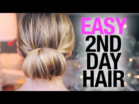 2nd Day Hairstyles by Easy Second Day Hairstyles
