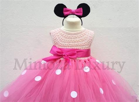 Sehm04 Set Hm Pink Flower Flower minnie mouse dress minnie mouse birthday dress flower