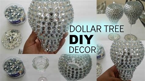 diy dollar tree bling candle holders my crafts and diy
