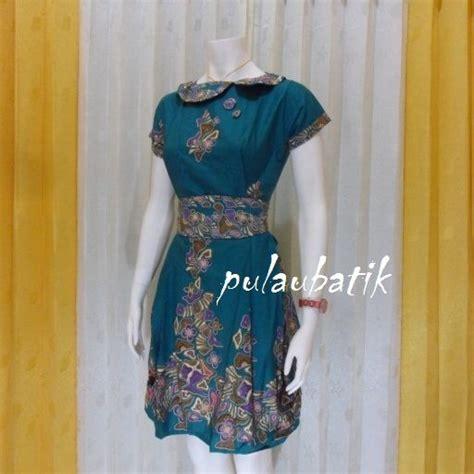 desain baju batik cirebon dress batik pesta terbaru db171 penilan modis dan