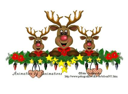 singing reindeer animated christmas pinterest
