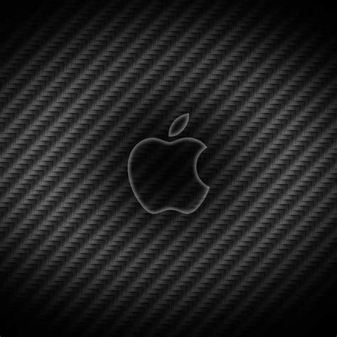 apple wallpaper carbon carbon fiber apple logo ipad wallpaper ipadflava com