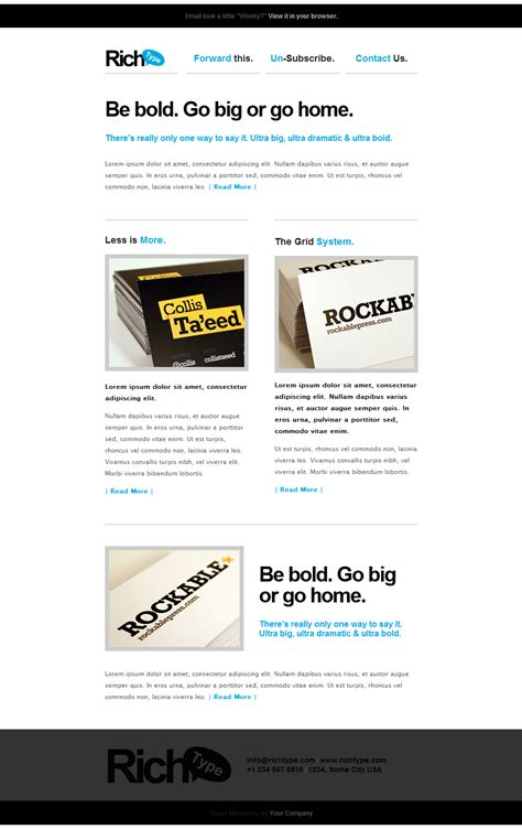 email template themeforest rich typography email template by themewich themeforest