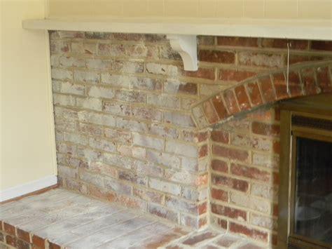 chalk paint brick fireplace whitewashed brick