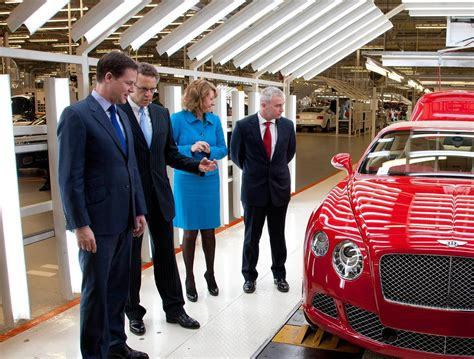 bentley motors headquarters deputy prime minister sees investment in high value