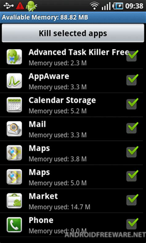 android app killer task killer 2011 free android app android freeware