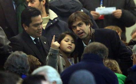 Ac Milan Teddy inter milan thohir barbara berlusconi e vip in tribuna