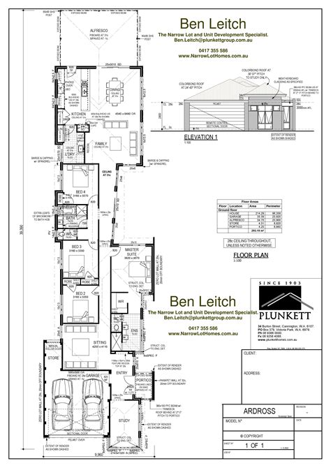 narrow lot house plans home design ideas