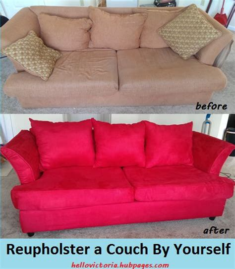 how hard is it to reupholster a couch pinterest