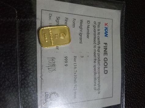 Gold Emas 05 Gram Logam Mulia 9999 Sertifikat Antam harga spesifikasi gold antam emas logam mulia 3 gram
