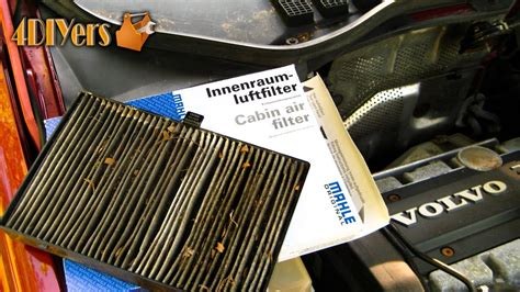 replace volvo  cabin filter youtube