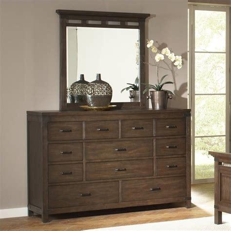 10 drawer dresser with mirror riverside furniture promenade 10 drawer dresser and mirror