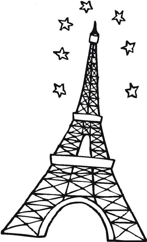 printable coloring page of eiffel tower paris eiffel tower coloring pages download and print for free