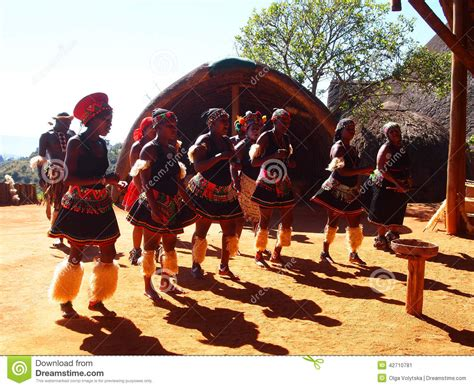 Zulu People In Traditional Clothes. April 18, 2014.KwaZulu