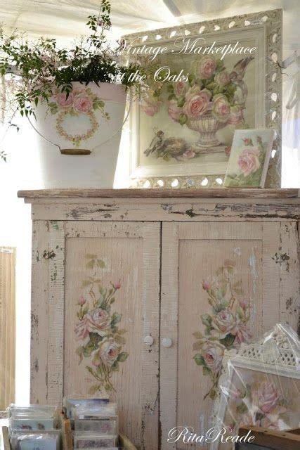 above cabinet shabby chic decor diy pinterest shabby chippy shabby rose cabinet art via chateau de fleurs