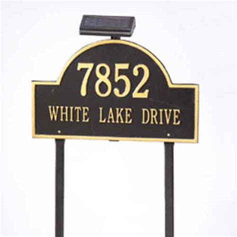 Address Plaques With Light - solar light for address plaques and house signs by whitehall