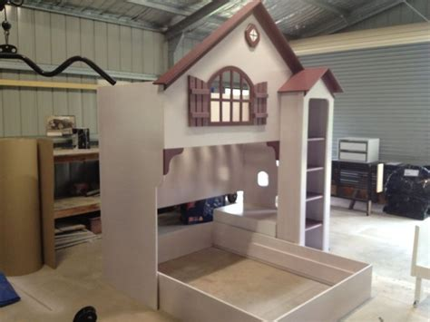 doll house loft bunk bed wooden dollhouse furniture doll house bed baby room cot