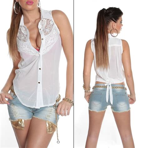See Through Lace Blouse lace chiffon transparent top sleeveless blouse sheer see through uk 10 12 ebay