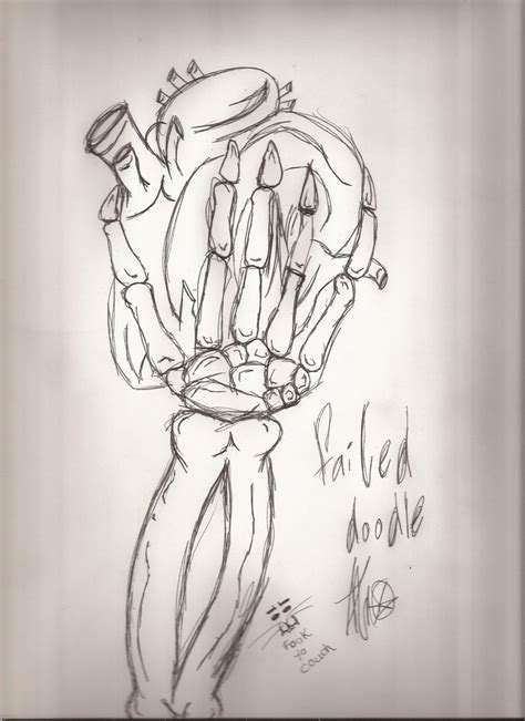 dysfunctional hearts stupid doodle skeletal holding arts by